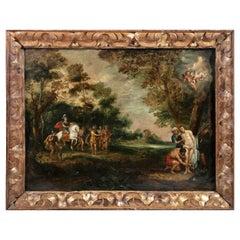 """Flemish School, 17th Century """"Religious Scene"""""""