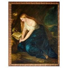 "Flemish School 19th Century ""Magdalene Penitent ""Dated 1863"
