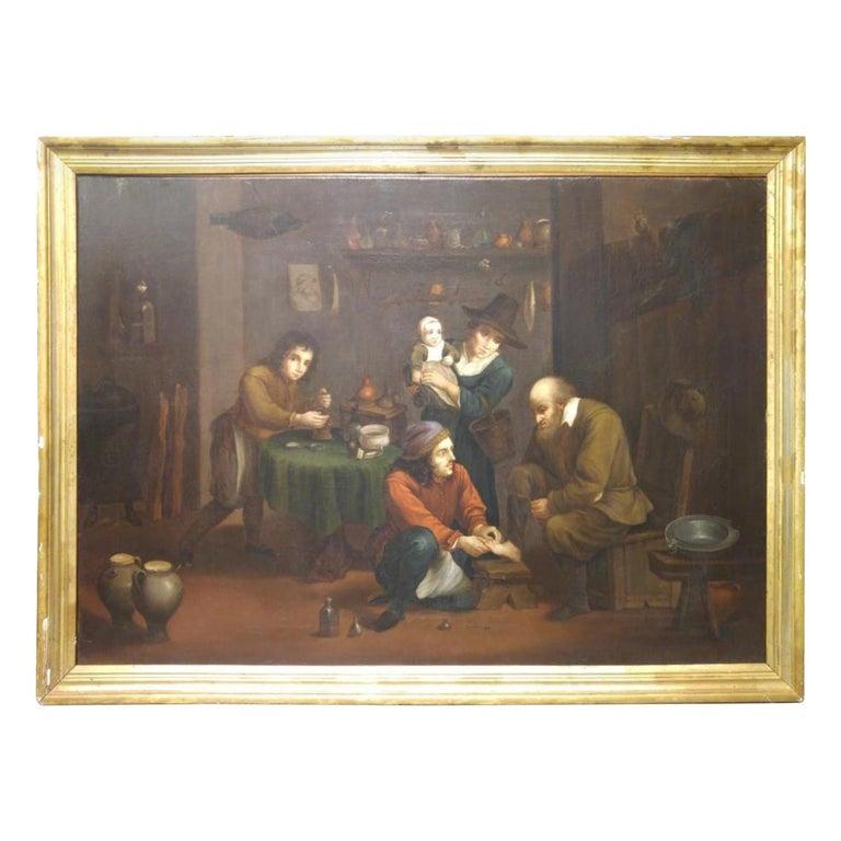 "Flemish School 19th Century "" Medical Theme"" For Sale"
