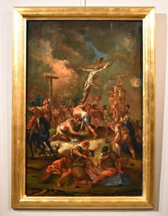 Christ Crucified Old master Paint Oil on canvas  Flemish 17/18th Century Italy