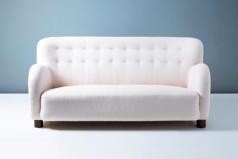 Flemming Lassen Attributed Sofa, circa 1940s In Excellent Condition For Sale In London, GB