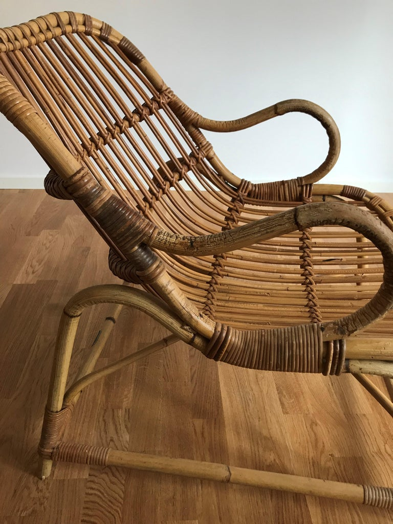 Flemming Lassen, Early Lounge Chair, Bamboo, Cane, E. V. A. Nissen & Co., 1940s For Sale 10