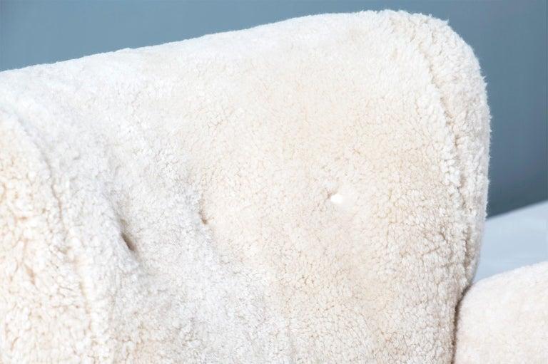 Flemming Lassen Style 1940s Sheepskin Armchair 3