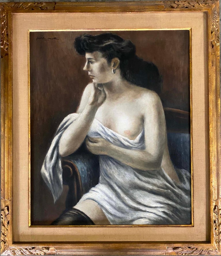Fletcher Martin Nude Painting - Black Stocking