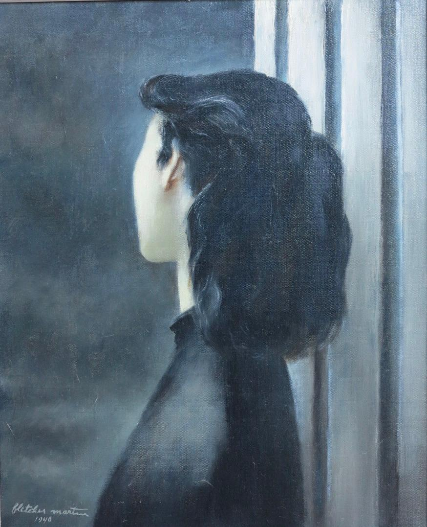 Darkness (portrait of a young woman)