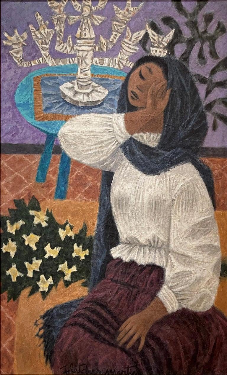 Fletcher Martin Portrait Painting - The Gesture  ( If I were a Princess )