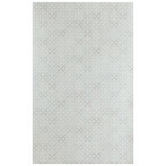 'Fleur de Lys Tile' Contemporary, Traditional Wallpaper in Vintage Grey