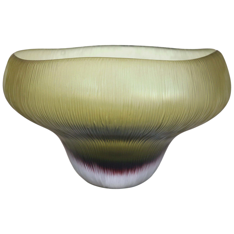 Fleur Murano Green Glass Vase / Bowl