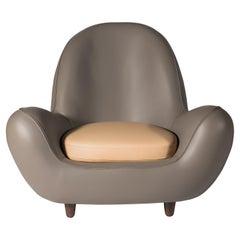 Fleur, Soft Leather Armchair, Designed by Nigel Coates
