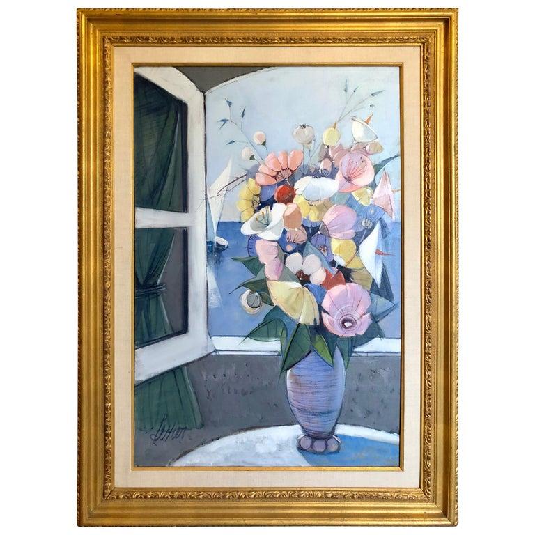 """""""Fleurs Sur La Mer"""" by Charles Levier For Sale"""