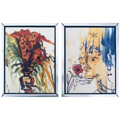 "Fleurs Surrealistes of ""Gala's Bouquet"" & ""The Vanishing Face"" by Salvador Dali"