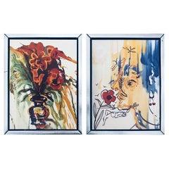 "Fleurs Surrealistes of ""Gala's Bouquet"" & ""The Vanishing Face"" by Salvador Dali"