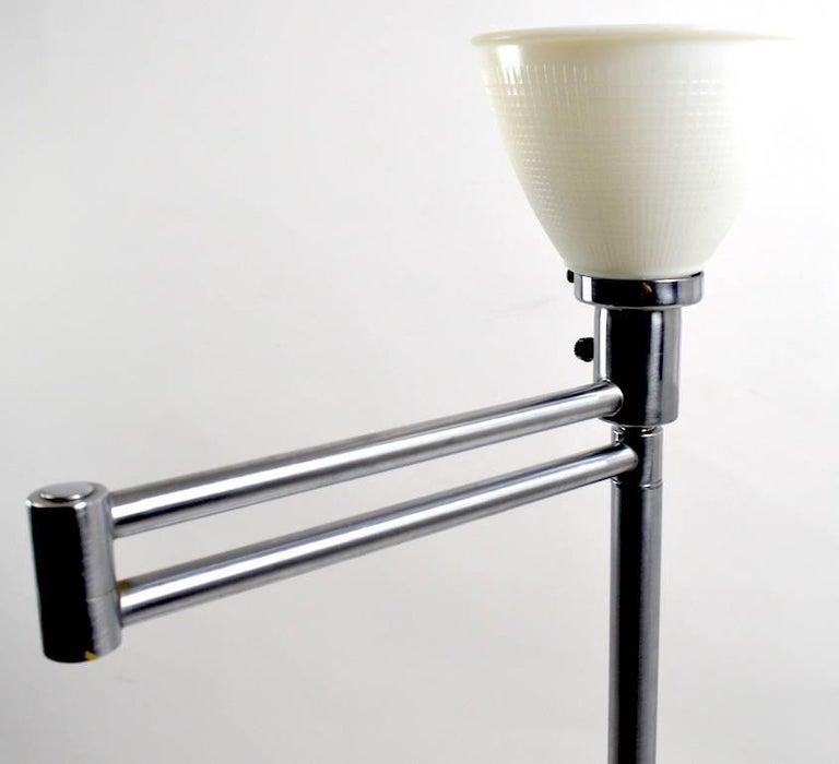 Machine Age Flex Arm Floor Lamp by Walter Von Nessen For Sale
