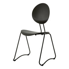 FLEX Chair in Black Powder-Coated Steel Sledge Frame by Verner Panton Quickship