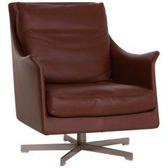 Flexform Boss Leather Armchair Brown