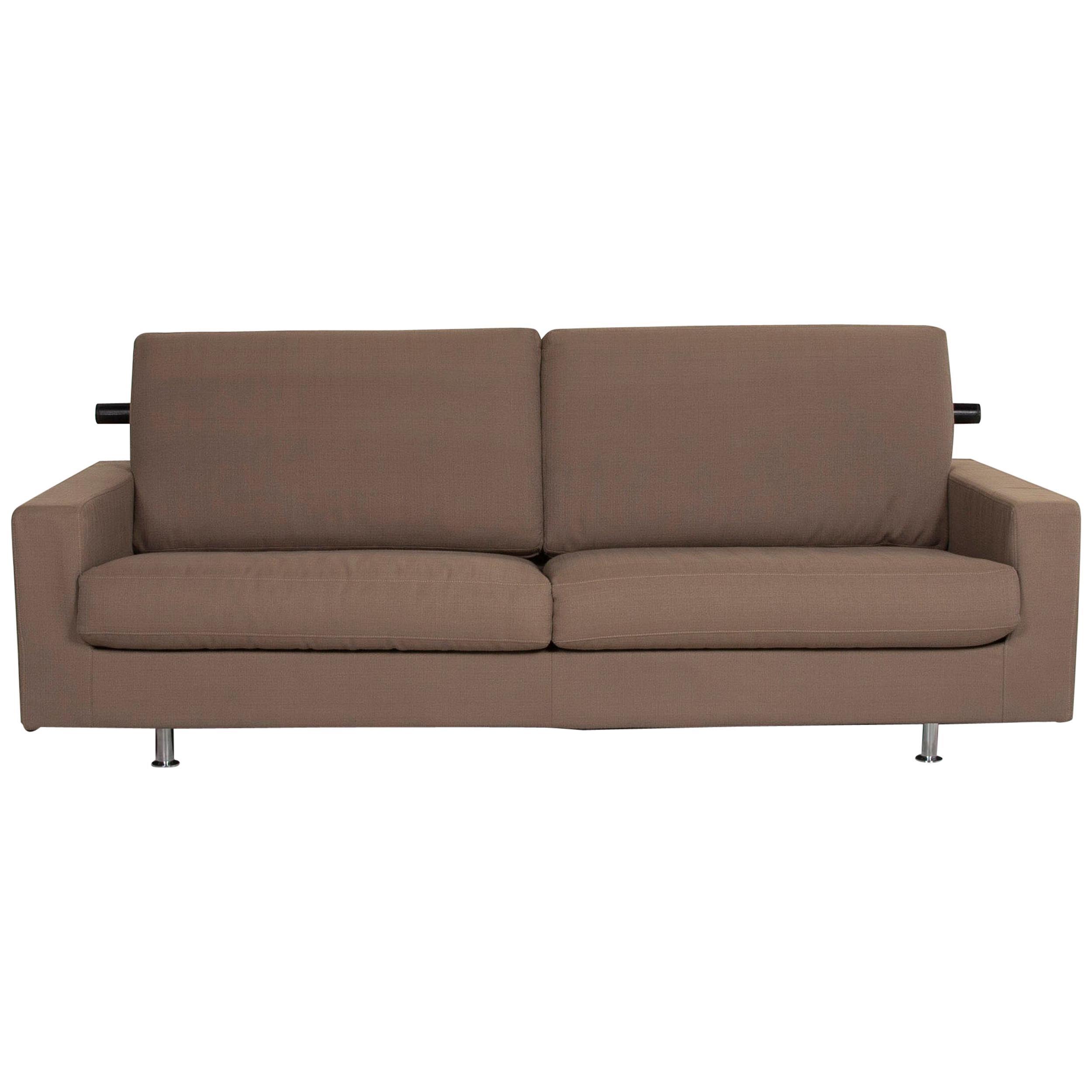 Flexform Fabric Sofa Beige Two-Seat
