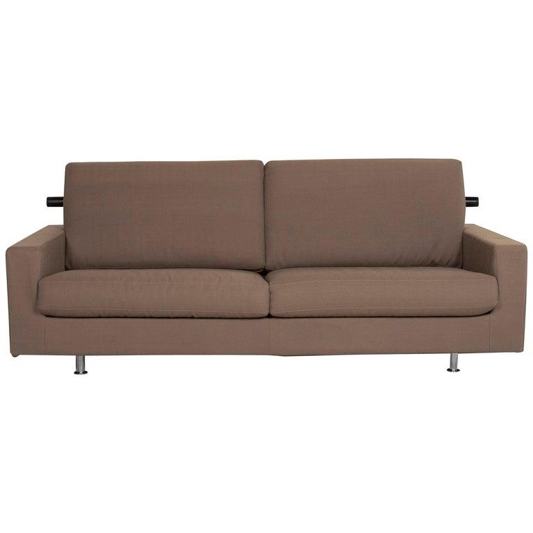 Flexform Fabric Sofa Beige Two-Seat For Sale