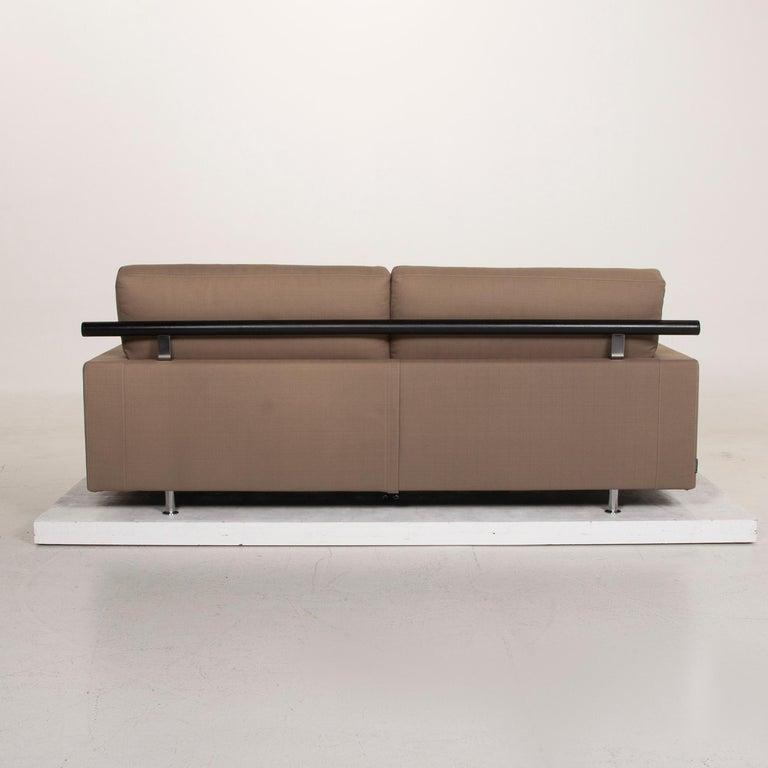 Flexform Fabric Sofa Beige Two-Seat For Sale 4