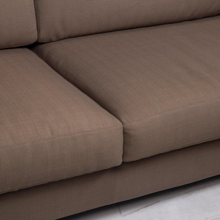 Modern Flexform Fabric Sofa Beige Two-Seat For Sale
