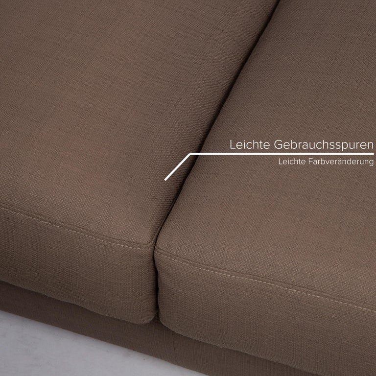 Italian Flexform Fabric Sofa Beige Two-Seat For Sale