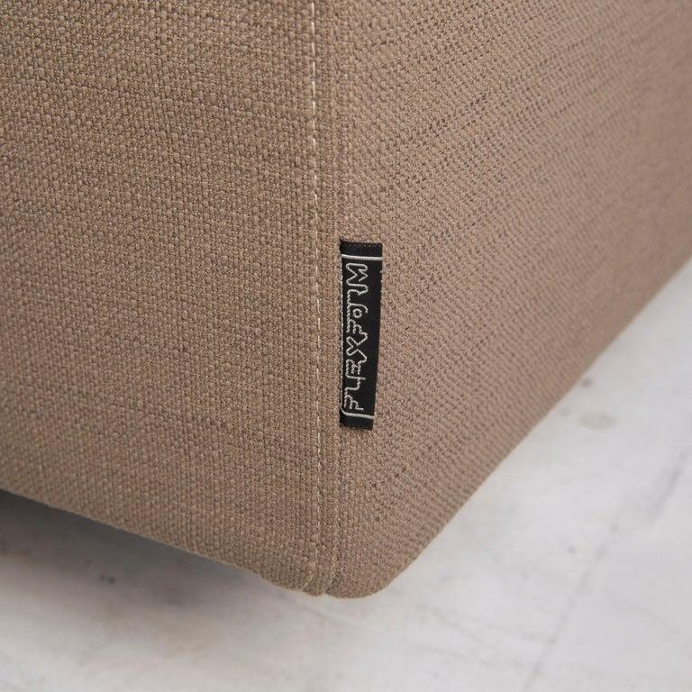 Contemporary Flexform Fabric Sofa Beige Two-Seat For Sale