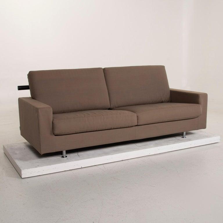 Flexform Fabric Sofa Beige Two-Seat For Sale 1