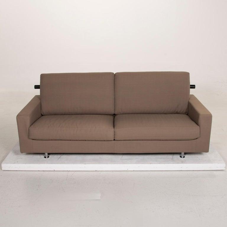 Flexform Fabric Sofa Beige Two-Seat For Sale 2