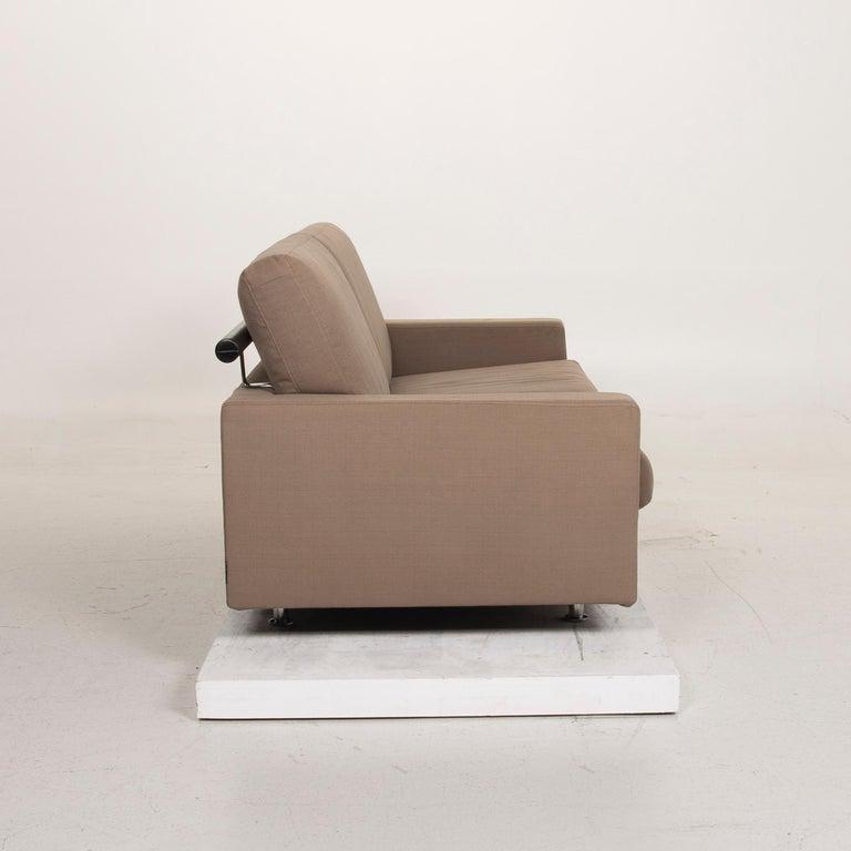 Flexform Fabric Sofa Beige Two-Seat For Sale 3