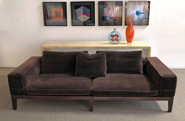 Hand-Crafted Flexform Sofa by Antonio Citterio For Sale