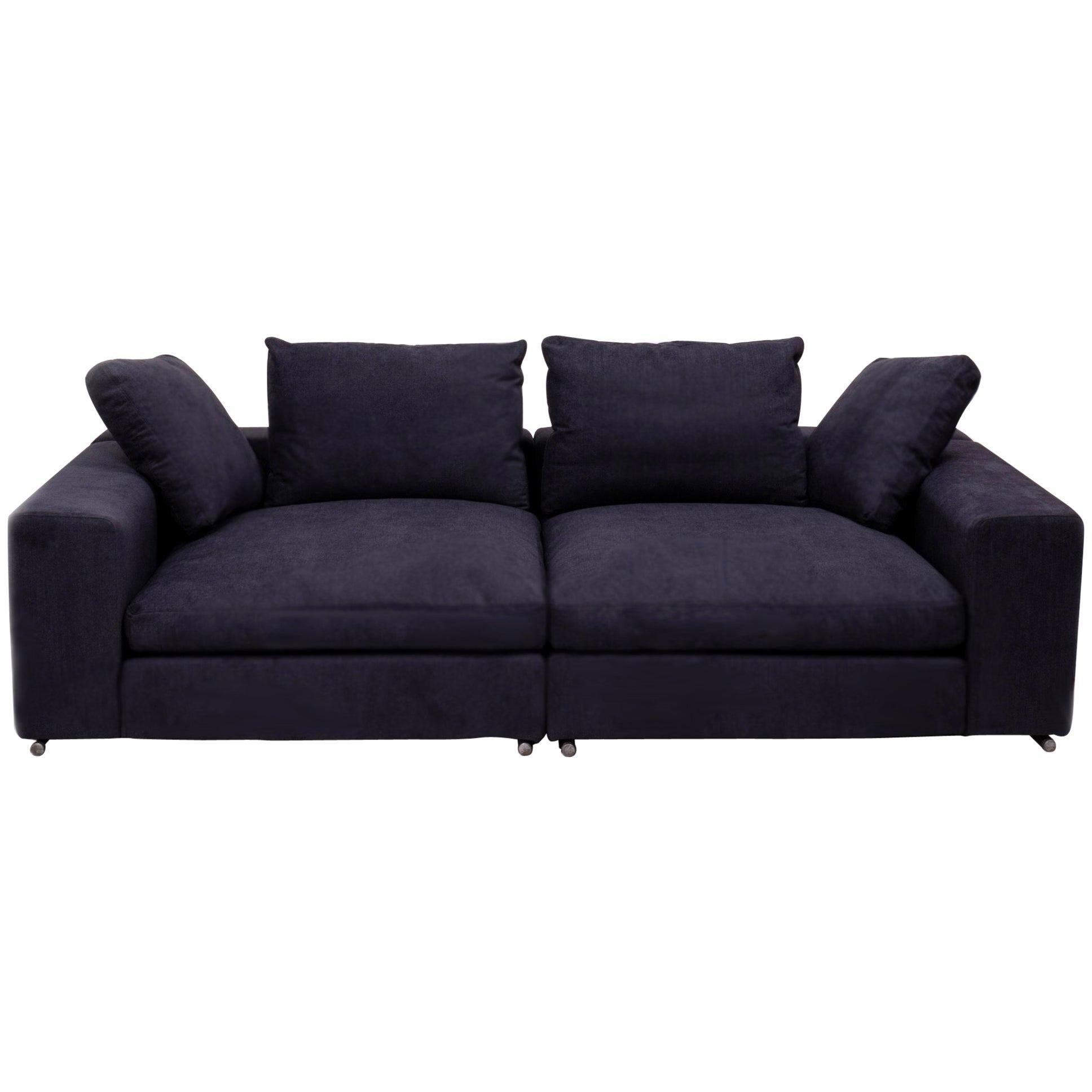 Flexform Vintage Slate Grey Fabric Sofa