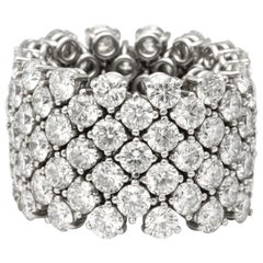 Flexible 7-Row Diamond Band Ring