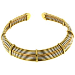 Flexible Chocker in Three-Color Gold