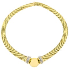 Flexible Colar 18 Karat Necklace with Diamonds