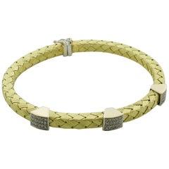Flexible Diamond 18 Karat Yellow Gold Bracelet