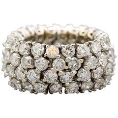 Flexible Diamond 18k White Gold Band