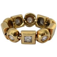 Flexible Diamond Gold Band Ring