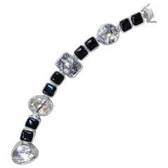 Stephen Dweck Tourmalated Quartz & Black Onyx Bracelet in Sterling Silver