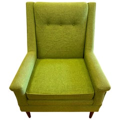 Flexsteel Midcentury Green Upholstered Modern Lounge Chair