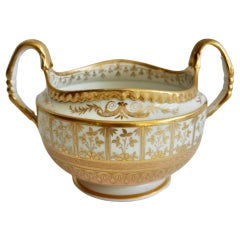 Flight Barr and Barr Open Sucrier Bowl, Pale Peach and Gilt, Regency, 1816-1820