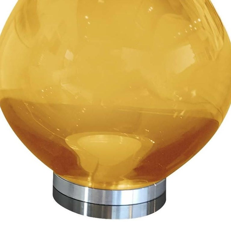 Italian Flik Yellow Table Lamp by Karim Rashid For Sale