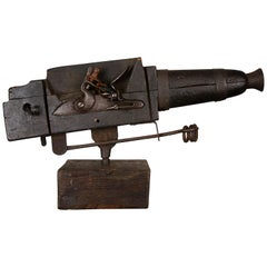 Flintlock Alarm Gun with Flared Barrel, circa 1800
