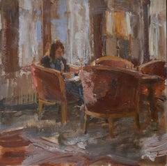 Hotel van der Werff, Lounge -21st Century Contemporary Dutch Interior Painting