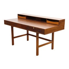 Flip-Top Desk by Peter Løvig Nielson for Løvig Dansk, 1977 Denmark, Refinished