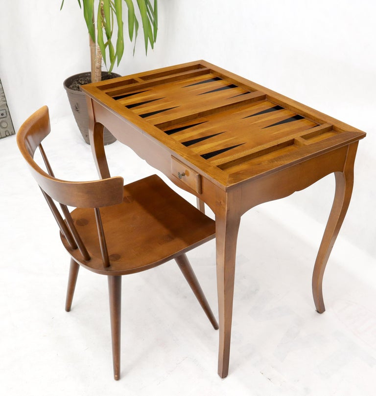 Flip Top Italian Chess Backgammon Game Table with Drawers For Sale 2