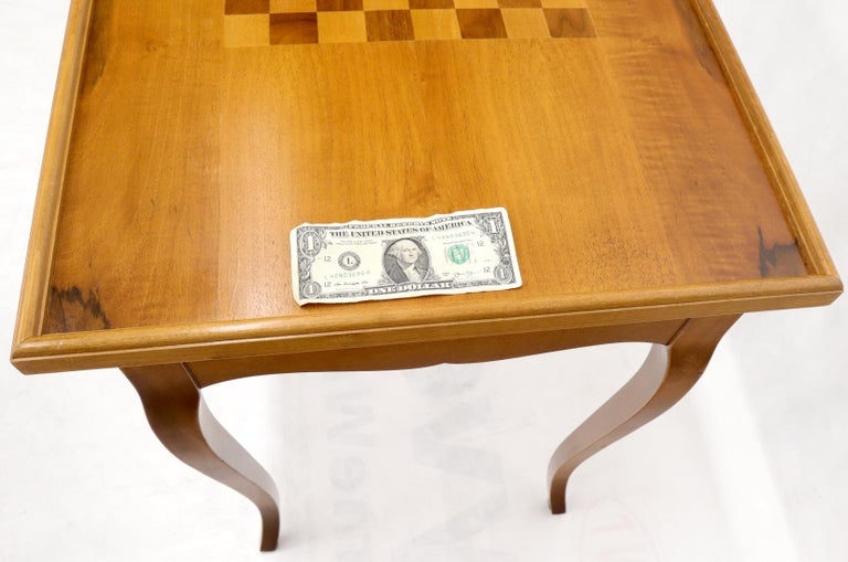 Flip Top Italian Chess Backgammon Game Table with Drawers For Sale 3