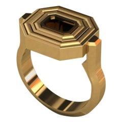 Flip Top Petite Gold and Black Enamel Ring