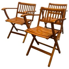 F.lli Reguitti Folding Chairs, Set of 3, Italy, 1960s
