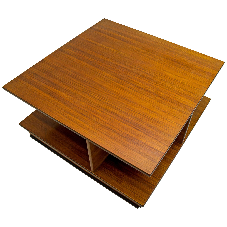 F.Lli Saporiti Mid-Century Modern Italian Walnut Coffee Table, 1960s