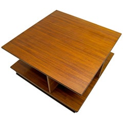 F.Lli Saporiti Mid-Century Modern Italian Walnut Coffee Table, 1960s