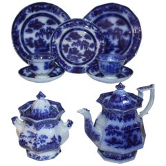 "Flo-Blue Collection of 9 Piece Matching ""Formosa"" Tea Set"
